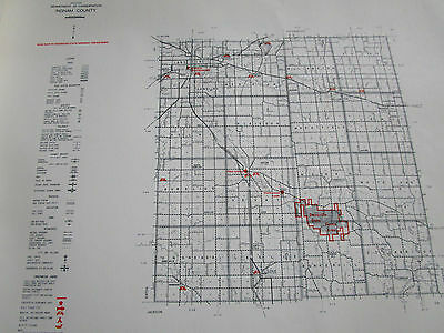 1961 INGHAM County MI MICHIGAN CONSERVATION DNR MAP
