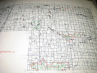 1954 MONTCALM County MI CONSERVATION DNR MAP Michigan