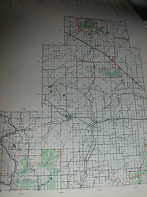 1950 MENOMINEE County MI CONSERVATION DNR MAP 2part Map