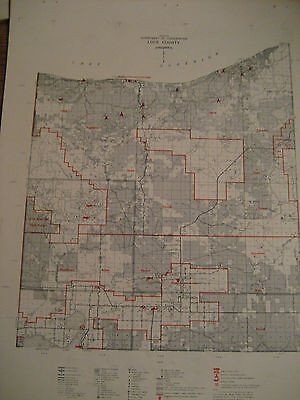 Vtg. 1961 LUCE County MI Michigan  /  CONSERVATION DNR MAP
