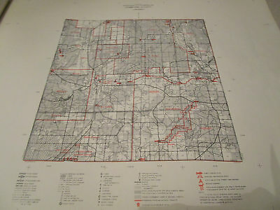 1964 CRAWFORD County MI CONSERVATION MICHIGAN DNR MAP