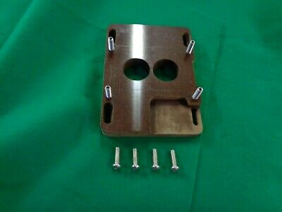 Phenolic Carburetor Adapter Spacer 4Bbl To 2Bbl 500 Cfm Holley 2 Bbl 4 Bbl