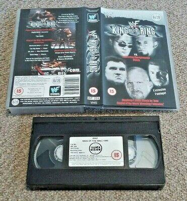 VHS Video PAL Small Box WWF King Of The Ring 1999 Silver Vision Wrestling (C12)