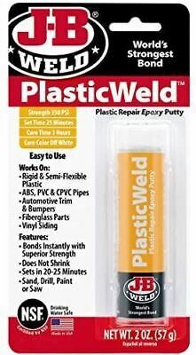 JB Weld 8237 PlasticWeld Fast Setting Reinforced Epoxy Putty in White - 57g