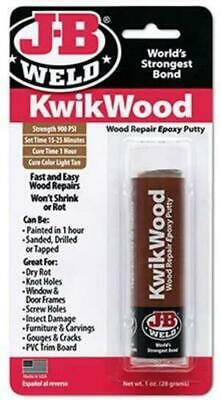 JB Weld KwikWood Wood Repair Epoxy Putty with Cure Colour - Light Tan - 28g