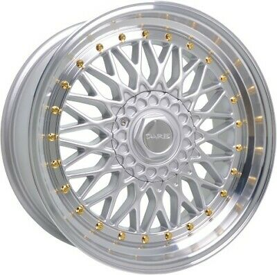 """Alloy Wheels 16"""" Dare DR-RS Silver Polished Lip For BMW 3 Series [E30] 82-93"""
