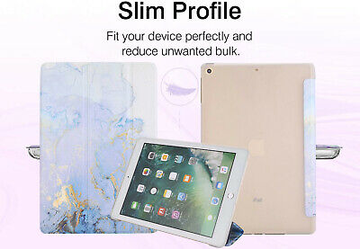 Grey Color Marble Case Smart Trifold Stand Soft TPU Cover for iPad 7th 10.2 2019