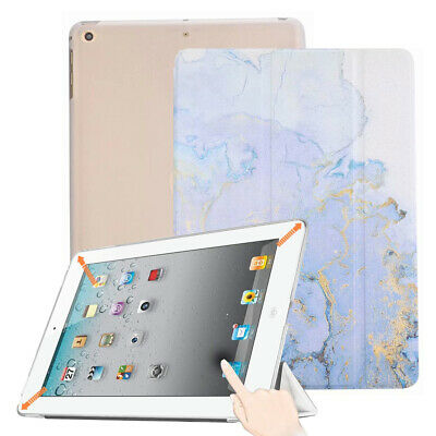 Gold Grey Marble Case Smart Trifold Stand Soft TPU Back Cover for iPad mini 4 5