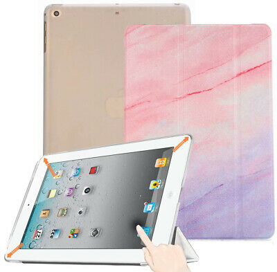 Pink Marble Case Smart Flip Stand Translucent Cover for iPad 5th 6th 9.7 Air 1st