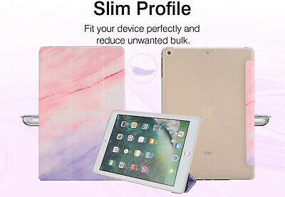 Slim Marble Case Smart Trifold Stand Flip Soft TPU Cover for iPad 7th 10.2 2019