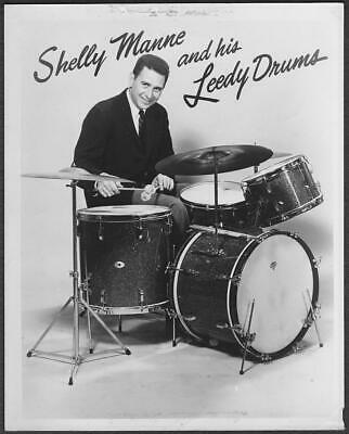 Shelly Manne and his Leedy Drums 8x10 Original Publicity Photo