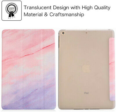 Glossy Marble Pink Case Smart Trifold Stand Soft TPU Cover for iPad mini 1 2 3