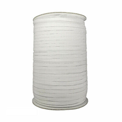 6mm Flat Elastic Sewing Band Woven Cord Multiple Widths White Trouser Dress
