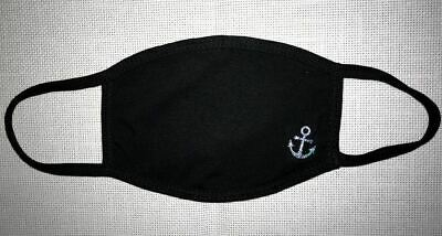 1 Face Mask Reusable Two Layers Soft Cotton Washable nautical anchor summer fun