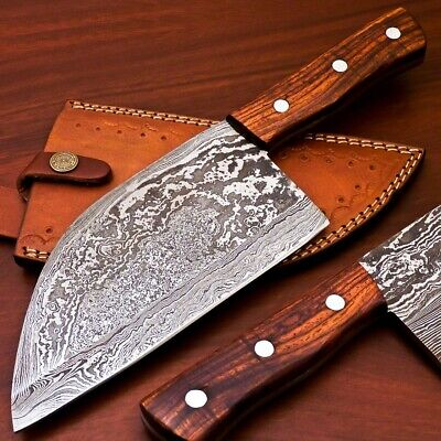 Handmade Damascus Steel Cleaver Chopper Chef Kitchen Knife Heavy Duty Damascus
