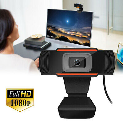 HD 1080P Webcam Auto Focus Web Camera Cam w/Mic USB 2.0 For PC Laptop Desktop