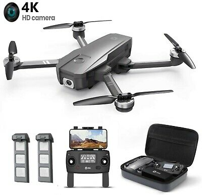 4K Drone Holy Stone HS720 with HD Camera GPS RC Quadcopter Brushless 2 Battery
