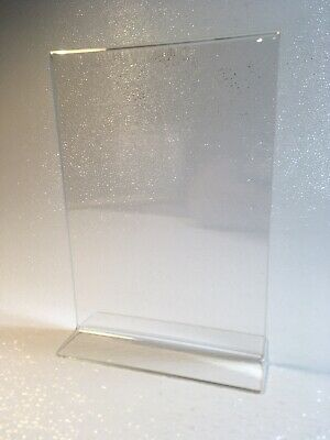 """Acrylic Sign Holder Menu&Card Stand for 5""""x7"""" For Conferences, Restaurants, Etc"""