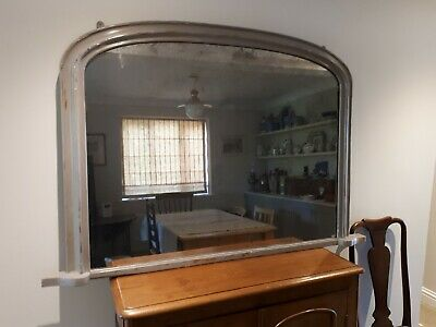 Victorian Overmantle Mirror With Original Glass