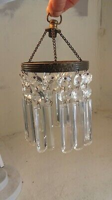 Small Hall Glass Drop Chandelier