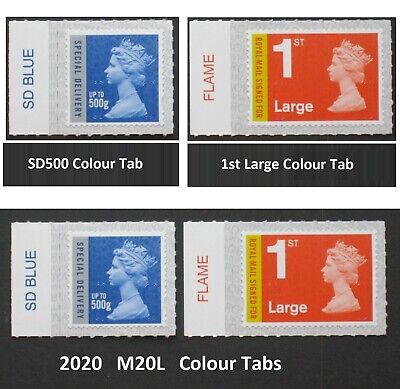2020 - M20L - 500g Special Delivery , 1st Large SIGNED FOR,  COLOUR TAB SINGLES