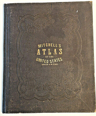 Antique & Original 1874 MITCHELL'S NEW ATLAS of UNITED STATES and TERRITORIES