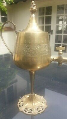 Indian Brass Ornate Table Water / Wine Dispenser