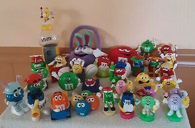 Large M & M LOT, Plush, Gumball Machine, Plastic Figures, Pastel, Cupid, Train