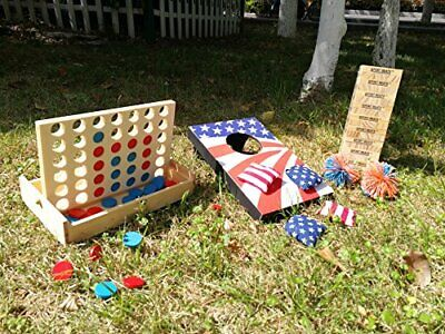 Connect 4 Large Outdoor Games Yard Big Huge Four Lawn Wooden Jumbo Gam NEW
