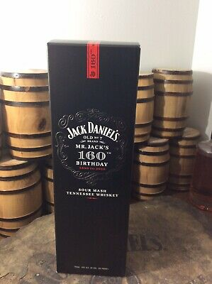 Jack Daniels Discontinued Black 160th Birthday Decanter Gift Box Only - 750ml