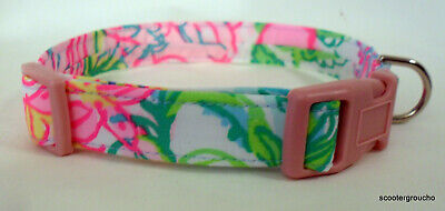 """Lilly Pulitzer """"Paradise Found"""" Handcrafted Dog Collar-all sizes -Free Ship"""