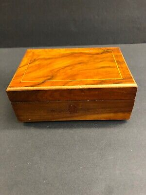 Vintage Antique Handmade 1900's Wood Box Jewelry Box