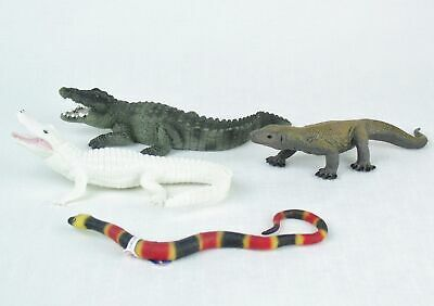 REPTILE LOT Safari  Komodo Dragon Albino Alligator SCHLEICH ALLIGATOR Snake