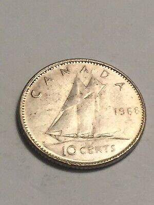 1968 Canada Dime - Canadian 10 Cent Coin