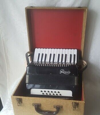 Rare Rivoli Musical Accordian by sonola Hard Case Made ITALY Folk Instrument Wow
