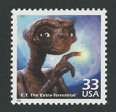 E.T. The Extra Terrestrial Steven Spielberg Oscar Movie ET Stamp MINT CONDITION!