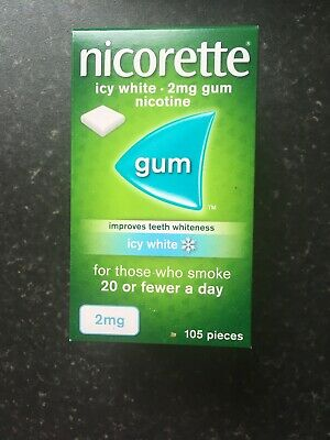Nicorette Icy White Flavour 2mg Gum - 105 Pieces - Improves Teeth Whiteness