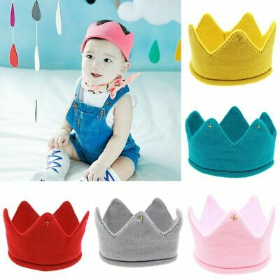 Crown Knit Headband Hat Baby Kids Headwear Boys Girls Photography Props