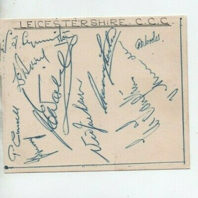 Leicestershire 1951? - signed page from an autograph book