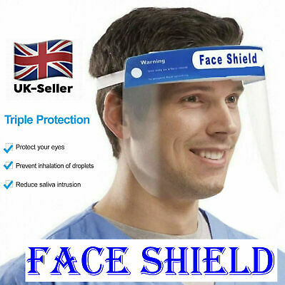 Face Shield Guard - Full Face Covering Clear Visibility Anti-Fog Visor Protector