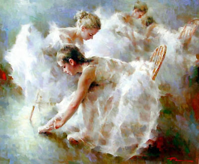 ZOPT170 high quality 100/% hand painted dancing girl art OIL PAINTING ON CANVAS