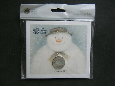 2018 Royal Mint The Snowman 50p Fifty Pence Coin Pack Sealed Uncirculated