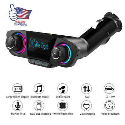 Bluetooth Car FM Transmitter MP3 Player Hands free Radio Adapter Set USB Charger