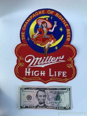 Vintage Miller High Life Milwaukee Beer Large Patch