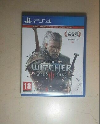 ORIGINAL Used Video Game The Witcher 3 Wild Hunt for PS4 FREE SHIPPING EXCLUSIVE