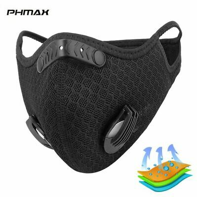 Adult Face Covering Mouth Nose Protection Washable Reusable Black Breathable