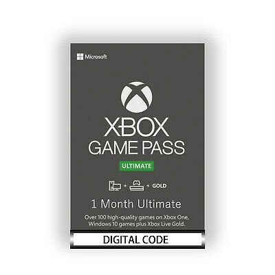 Xbox Live 1 Month Gold & Game Pass Ultimate (2x14 Day) FAST EMAIL DELIVERY