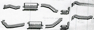 1958 Oldsmobile 88 Dual Exhaust System, Aluminized Without Resonators