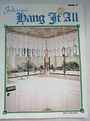 1977 MACRAME PATTERN BOOKLET- Juliano's Hang It All- VGC- 11 Designs To Make