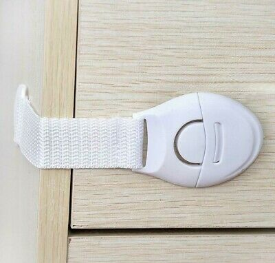 Baby Child Safety Cupboard Locks Kid Proof Door Fridge Latches Pack of 20/50/100